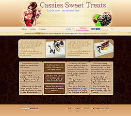 screen shot of CassiesSweetTreats.com